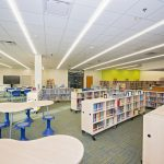 LIBRARY RHSD3 Cherry Park Elementary School of Language Immersion JM Cope Rock Hill South Carolina General Contractor Construction Program Management Manager CM At Risk Design Bid Build General Contracting CM Agency Commercial Education Interiors Faith Based Churches Historic Tax Credit Hospitality Industrial Manufacturing Interiors Medical Office Municipal